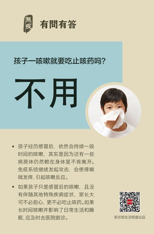 孩子咳嗽,先别急着用止咳药丨每日健康问答图片