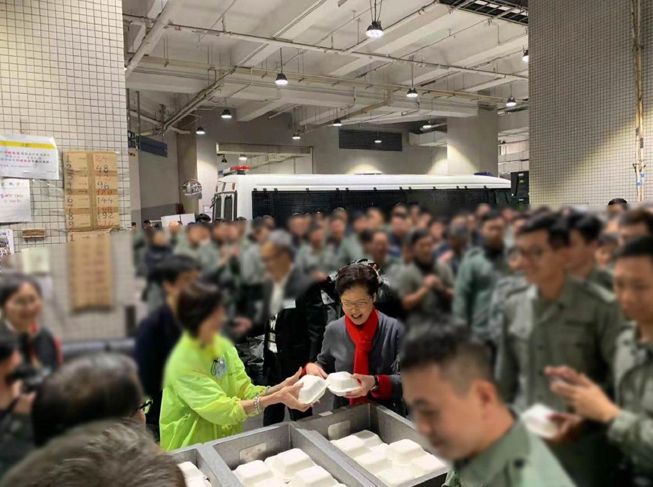 林郑月娥慰问香港警队:正义永远站在我们这一边
