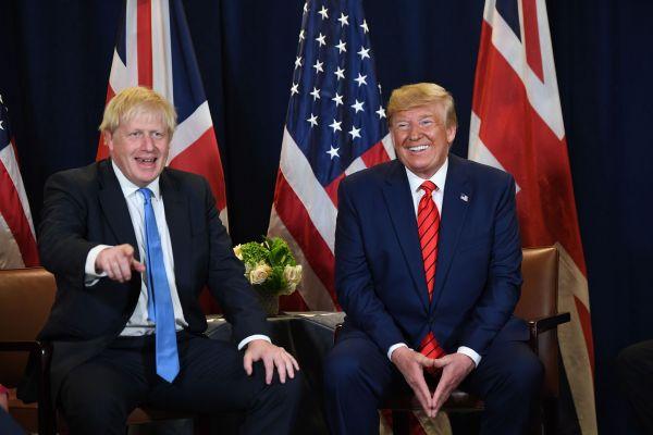 英媒:约翰逊和特朗普举行会晤 但避免同