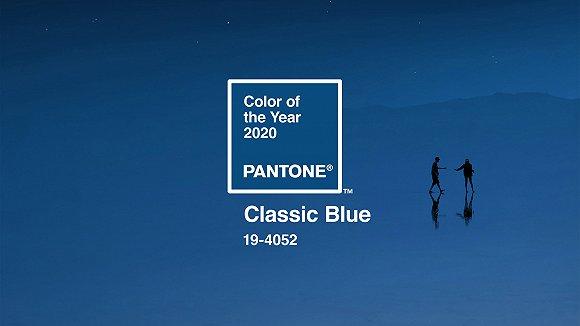 彩通最新公布的2020年年度色彩:经淡蓝