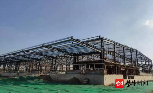 江北新区这一保税物流中心主体工程完工