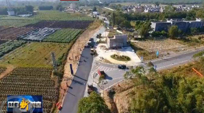 """恩平""""四好农村路""""示范路沥青路面将于明天完成铺设"""