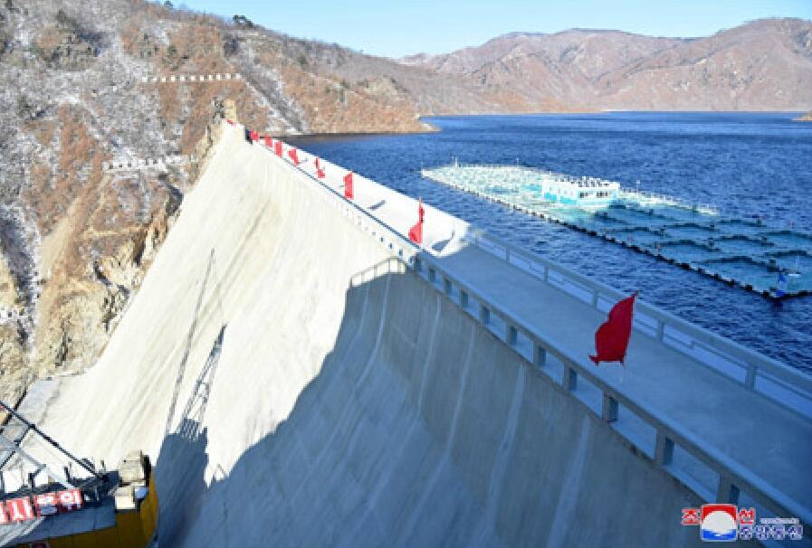 朝鲜八乡水坝竣工,去年曾被金正恩狠批