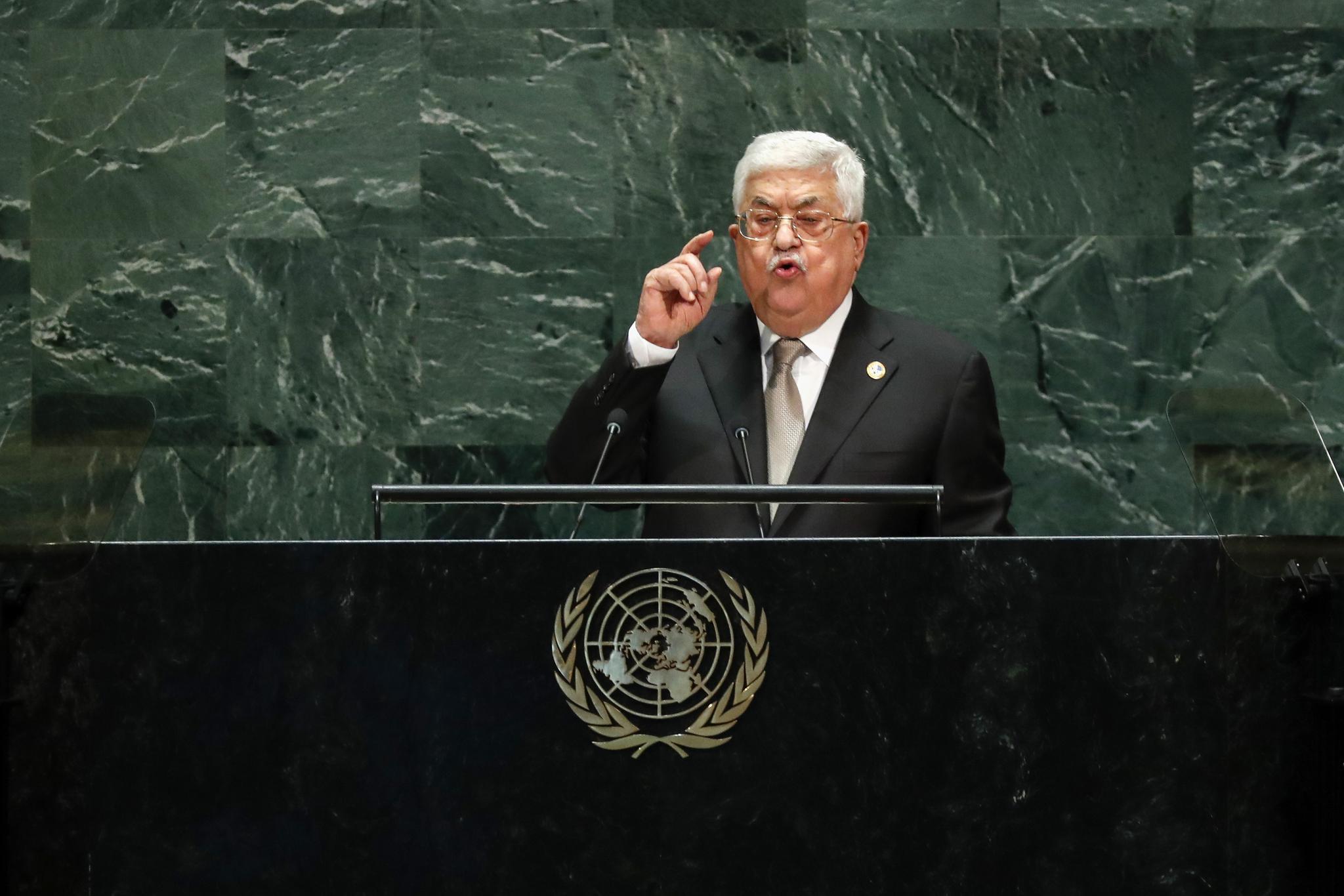 阿巴斯对以色列扩建定居点发出警告