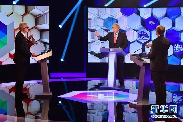 英国保守党与工党领导人进行大选前电视辩论