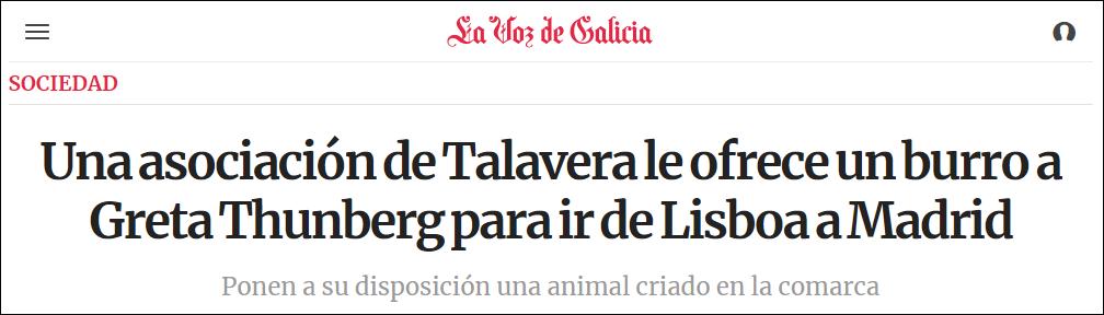 瑞典环保少女赴会马德里 当地曾提供驴子作代步
