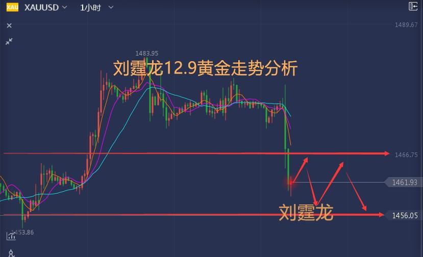 刘霆龙12.9黄金原油先机走势分析-黄金操作建议布局