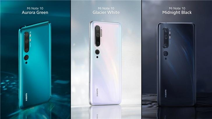 小米Note 10将于2020年1月在印度