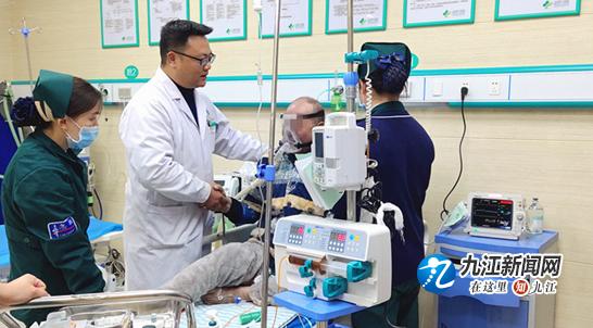 老人突发呼吸衰竭 九江市六医院急诊科分秒必争成功救治