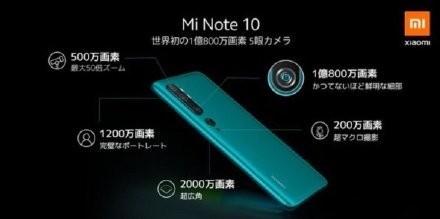 小米日本发布五款产品:MI Note 10手机,小米手环4,智能电饭煲,移动电源,手提箱