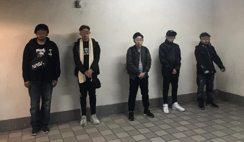 部分被捕嫌犯。(图源:星岛日报网)