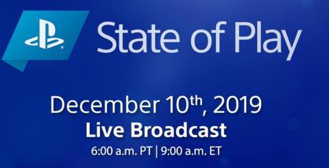 索尼互娱将于12月10日举办State of Play公布新游戏