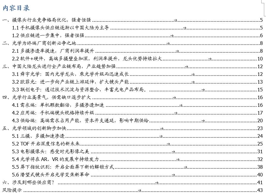 【国盛郑震湘团队】深度:光学赛道量价齐升、格局优化(图1)