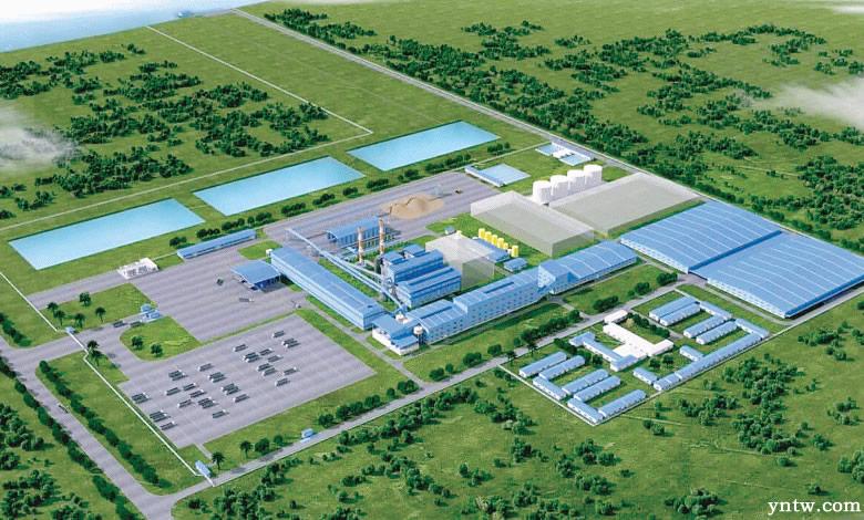 缅甸实皆省(Sagaing Region)甘蔗压榨糖厂&发电厂模型图
