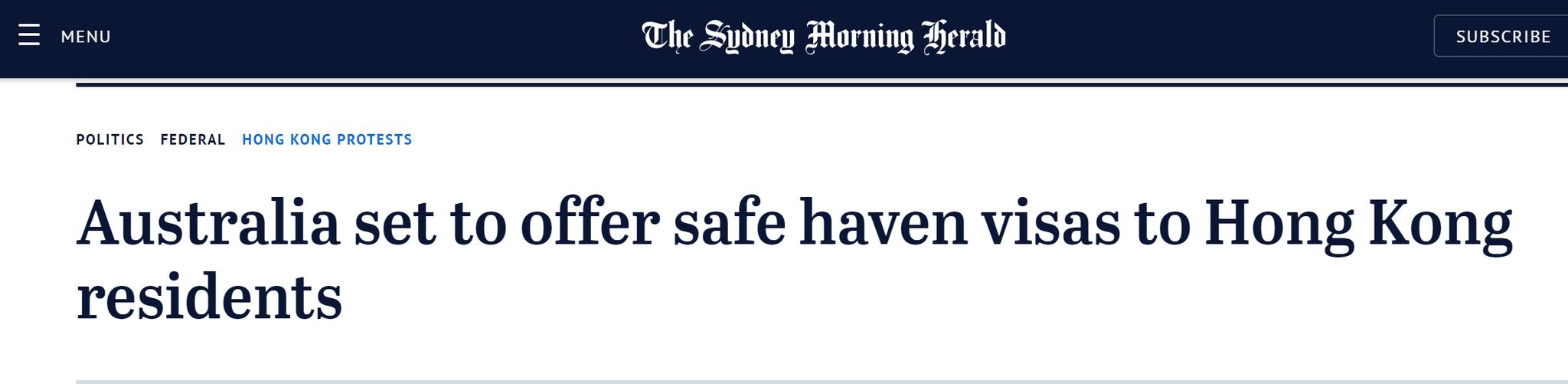 澳大利亚也学英国刷存在感?莫里森声称将为港人提
