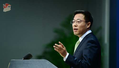 """赵立坚回应英美两国涉香港国安法言行:建议美国""""美丽的风景线""""留给自己图片"""