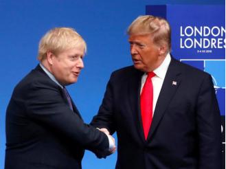 美国总统特朗普与英国首相约翰逊(资料图:路透社)