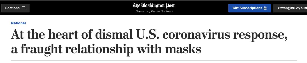 美国口罩问题依然纠缠不清 专家:这可能是美国最大的疫情应对失误图片