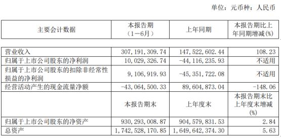 派思股份2020年上半年净利1002万扭亏为盈 LNG贸易业务收入增加