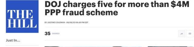 疫情救助贷款又被骗走买豪车!美国5名男子被逮捕