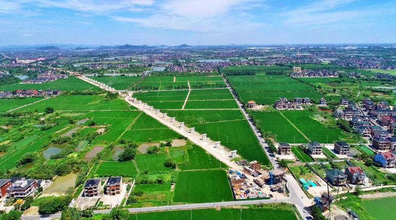 余杭特大桥施工建设场景