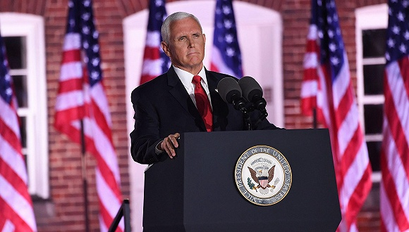 """疫情骚乱飓风连环打击下,彭斯强调美国是""""奇迹之国"""""""