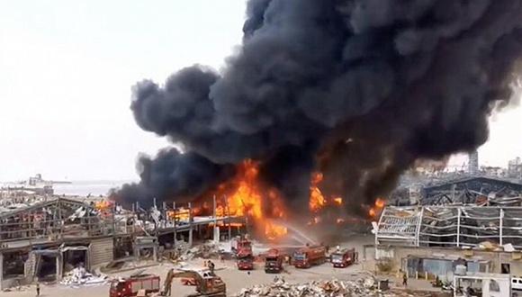 大爆炸仅一个多月后,贝鲁特港再