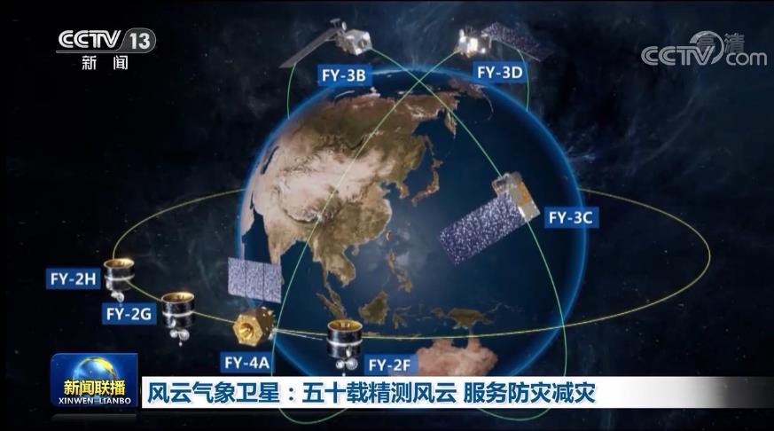 风云气象卫星:五十载精测风云 服务防灾减灾图片