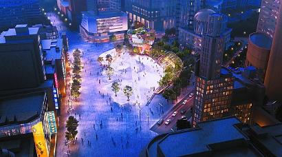 全新的南京东路世纪广场设计方案揭晓 城市贝母张开 万花筒珠光闪耀图片