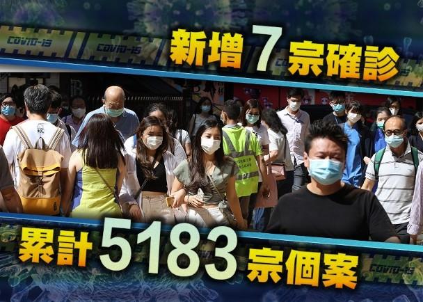 香港今日新增7例确诊病例 其中4例为本地图片