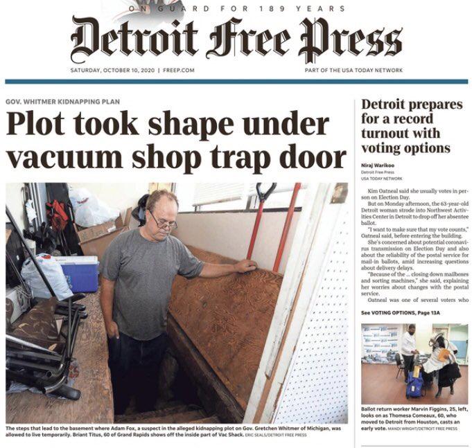 密谋绑架密歇根州州长惠特默案件的更多细节被披露