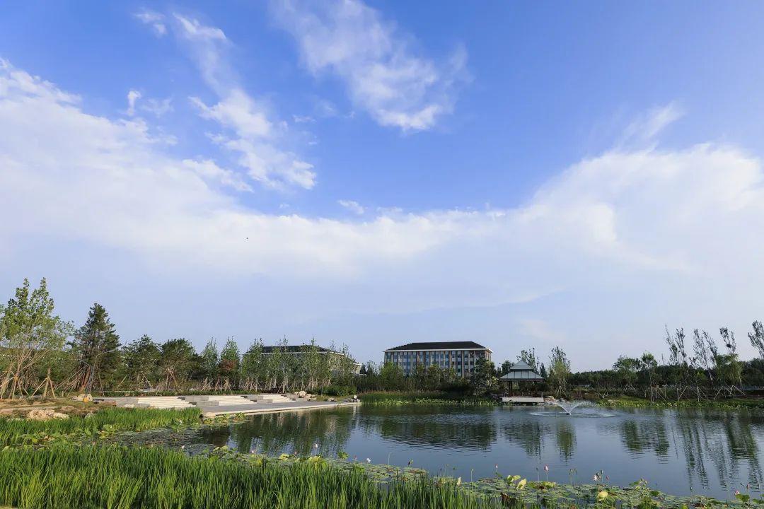 蓝天、白云、晚霞丨记录下北中医秋日的温柔图片