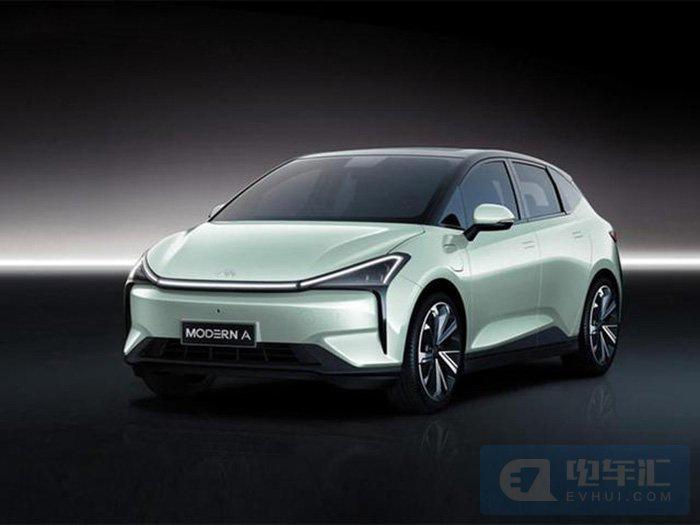 又一造车新势力?摩登汽车首款纯电动车官图发布