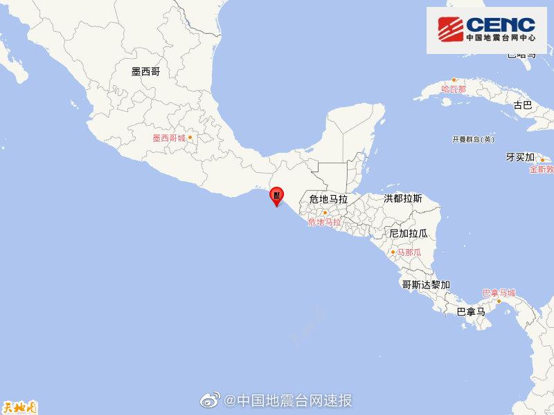 墨西哥沿岸近海发生5.4级地震 震源深度10千米