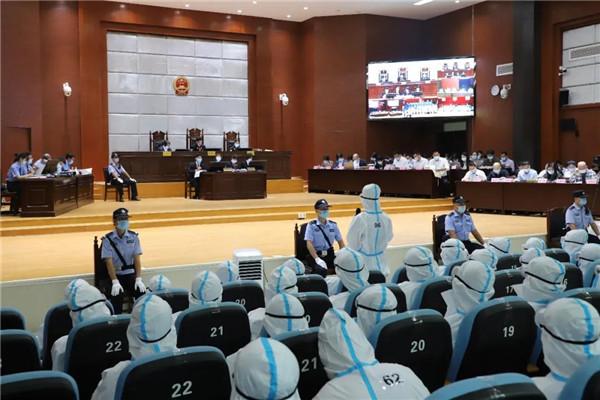 海城法院:78名被告人涉嫌组织、领导传销活动罪一案开审!图片