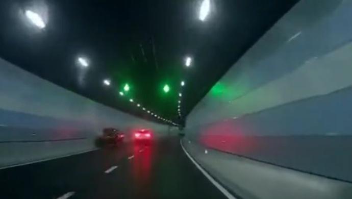 龙耀路隧道两车斗气处罚结果:白车司机被刑拘,另一人因失格驾驶被拘留并罚款图片
