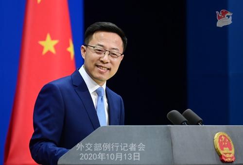 2020年10月13日外交部发言人赵立坚主持例行记者会图片