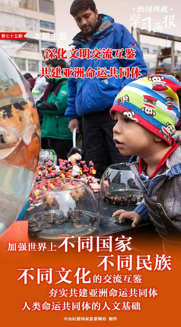 治国理政•学习画报75 | 深化文明交流互鉴 共建亚洲命运共同体图片