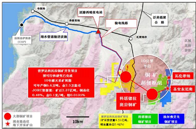 智利科塔德拉铜矿首次公布资源量