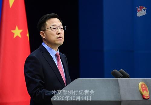 赵立坚:中方一向坚决反对美国向台湾出售武器图片