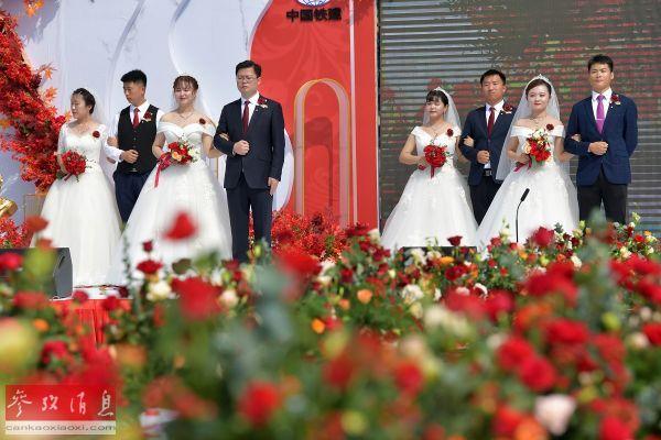 英媒报道:国庆婚礼扎堆显示中国抗疫成果图片