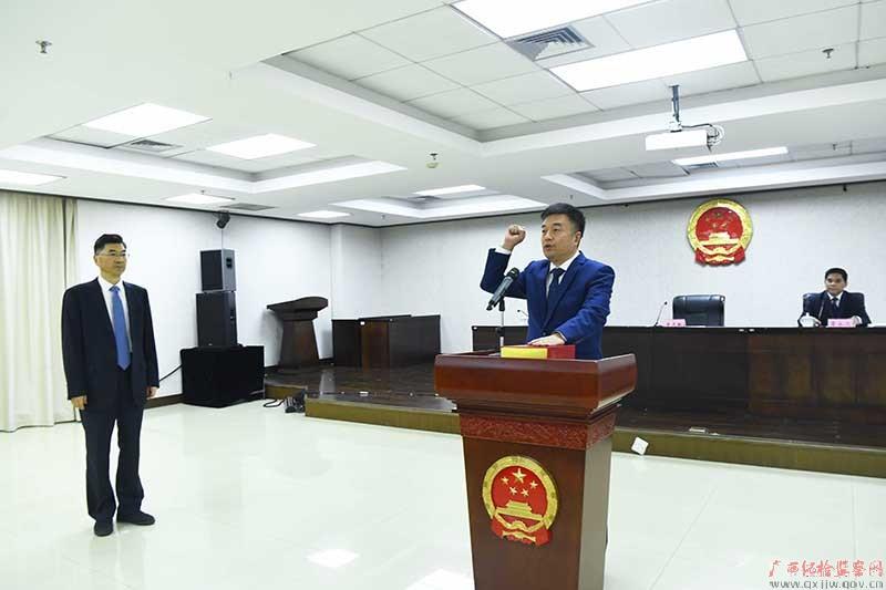 自治区监委举行新任副主任宪法宣誓仪式图片