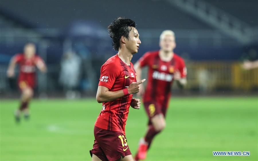 (SP)CHINA-JIANGSU-SUZHOU-CSL-FOOTBALL-HEBEI VS GUANGZHOU
