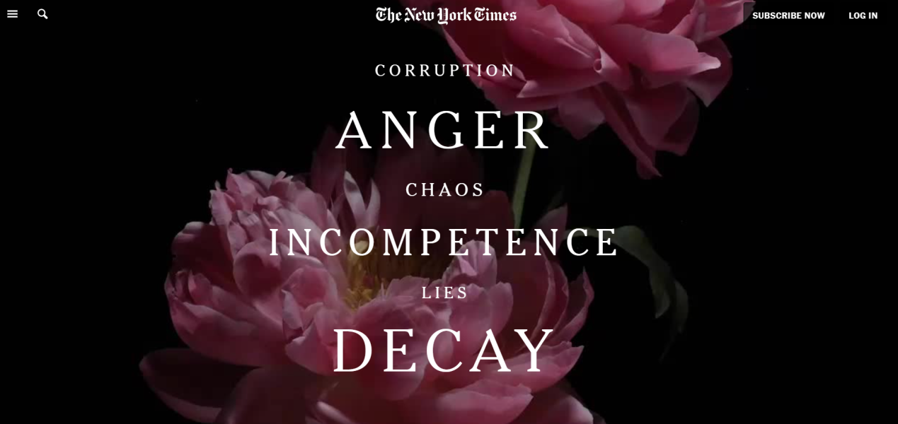 """《纽约时报》细数特朗普""""罪行"""":最糟糕的美国总统"""