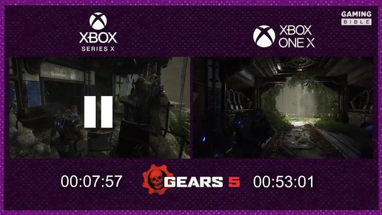 《战争机器 5》Xbox Series X/One X 载入时间对比,次世代仅 7.5 秒