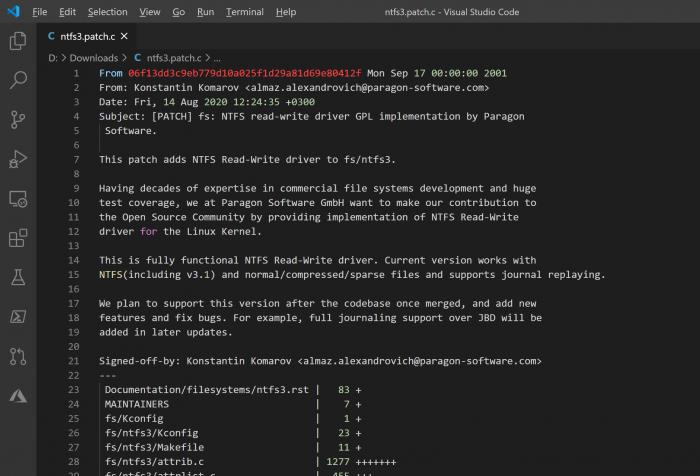 新的NTFS Linux内核驱动修订了九次 仍在审核中