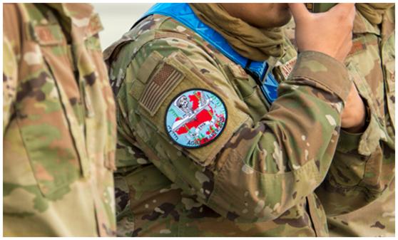 台空军侦搜预警中心队徽曝光 图案隐喻针对大陆(图)