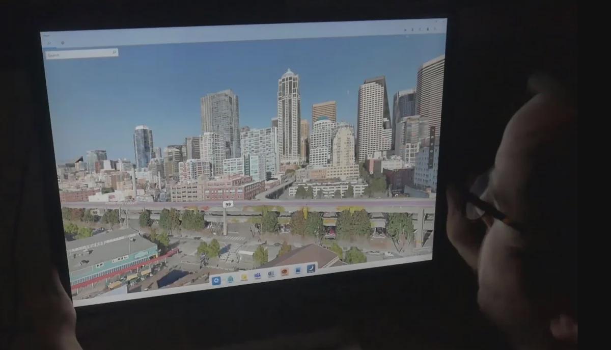 微软研究院展示屏幕倾斜响应式应用技术