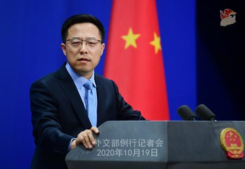 2020年10月19日外交部发言人赵立坚主持例行记者会图片