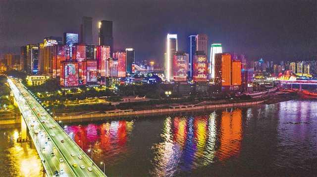 """昨晚,""""点亮山城"""" 央视直播重庆夜景灯饰亮灯图片"""